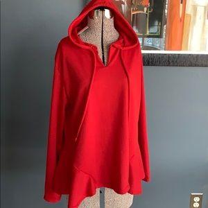 Doublju cherry ruffle hem hoodie, NWT, large